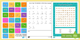 Fingerspelling Sports Activity Pack