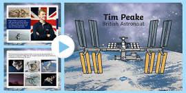 Tim Peake British Astronaut Information PowerPoint
