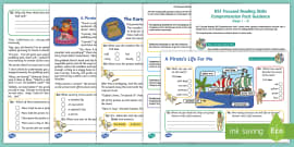 KS1 A Pirate's Life For Me: Focused Reading Skills Comprehension Pack