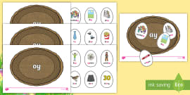Phase 5 Easter Egg Sorting Phonics Game