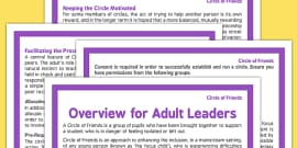 Circle of Friends Overview for Adult Leaders