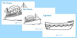 The Titanic Colouring Posters