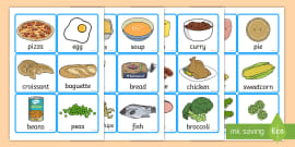 Food Word and Picture Cards