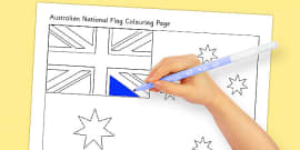 Flags of Australia Australian National Flag Colouring Page