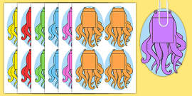 Plain Octopus for Fishing Games Phonics