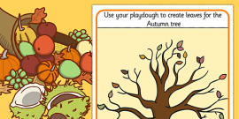 Autumn Tree Playdough Mat