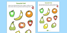 Favourite Fruits Activity Sheet