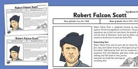 Robert Falcon Scott Significant Individual Fact Sheet
