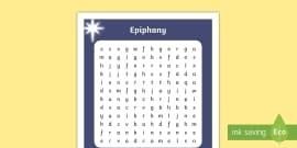 KS1 Epiphany Word Search