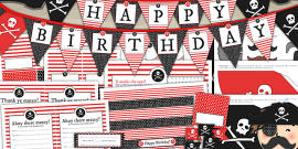 Pirate Themed Birthday Party Pack