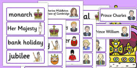 Royal Family Word Cards