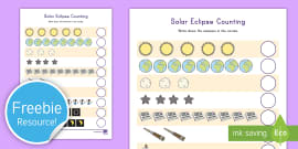 Solar Eclipse Counting Activity Sheet