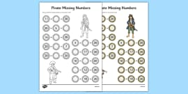 Missing Numbers to 20 Activity Sheet