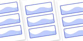 Polar Bear Themed Editable Drawer-Peg-Name Labels (Colourful)