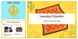 Sikh Beliefs Teaching and Task Setter PowerPoint