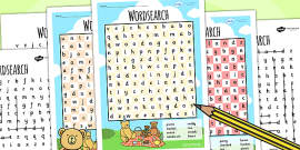 Teddy Bears Picnic Wordsearch Differentiated