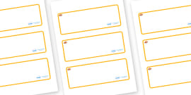 Clownfish Themed Editable Drawer-Peg-Name Labels (Blank)