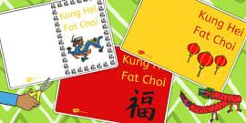 Kung Hei Fat Choi Greeting Card Templates