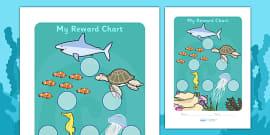 Under The Sea Sticker Reward Chart (30mm)