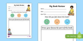 My Book Review Writing Activity Sheet