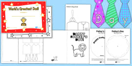 Father's Day Resource Pack for Childminders (Australia)