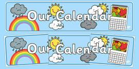 Our Calendar Display Banner