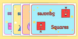 2D Shapes Table Signs