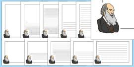 Charles Darwin Themed Page Borders