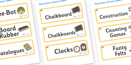Clownfish Themed Editable Additional Classroom Resource Labels