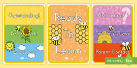Bee Themed Behavior Display Sign