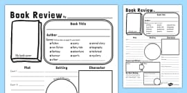 In Depth Book Review Writing Template