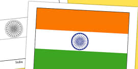 India Flag Display Poster