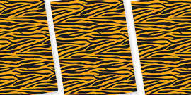 Tiger Themed Pattern A4 Sheets
