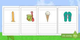 Summer Simple Sentence Writing Frames