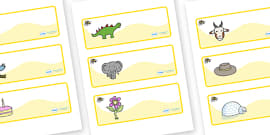 Bumble Bee Themed Editable Drawer-Peg-Name Labels