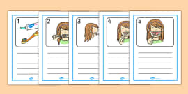 How To Brush Your Teeth Writing Templates