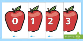Numbers 0-20 on Apples