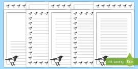 Magpie Portrait Page Borders