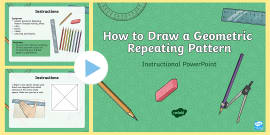 * NEW * How To Draw An Islamic Geometric Repeating Pattern Instructional PowerPoint