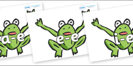Modifying E Letters on Frogs
