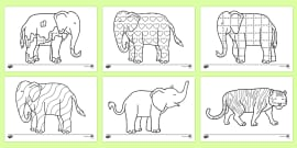 Colouring Sheets to Support Teaching on Elmer