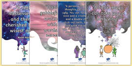 Roald Dahl Quotes Display Posters