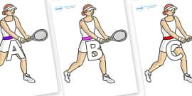 A-Z Alphabet on Tennis Players