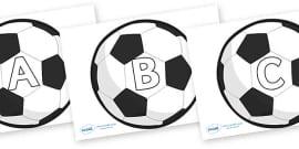 A-Z Alphabet on Football
