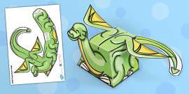Simple Dragon Paper Model