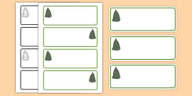 Fir Tree Themed Editable Drawer-Peg-Name Labels (Colourful)