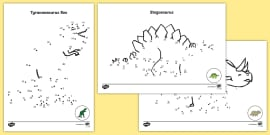 Dinosaurs Dot to Dot Sheets
