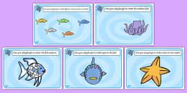 Playdough Mats to Support Teaching on The Rainbow Fish