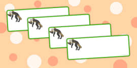 Monkey Themed Drawer Labels
