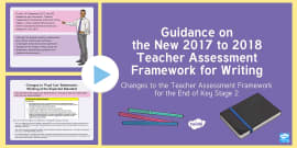 * NEW * Guidance on the New 2017 to 2018 Teacher Assessment Framework for Writing in KS2 PowerPoint